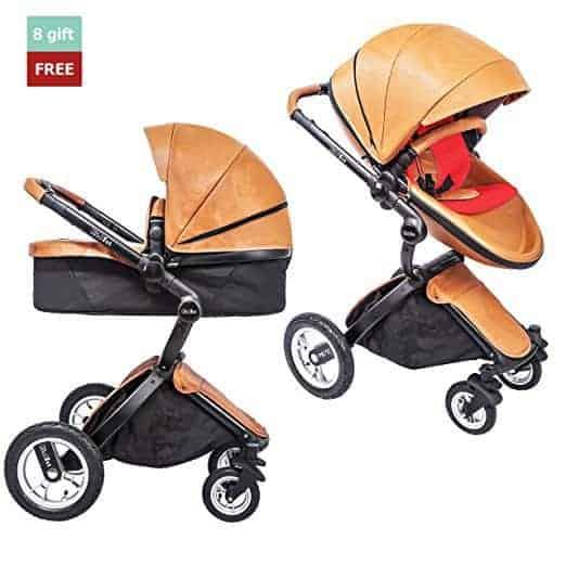 kid1st elegant all terrain egg shell infant baby stroller 1