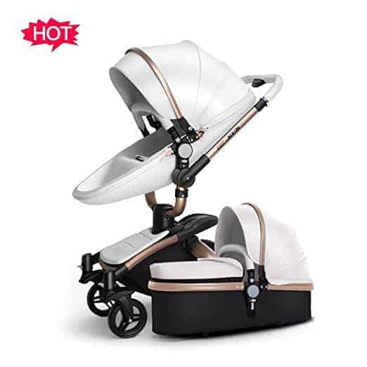 springbuds luxury stroller white