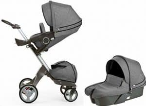 Stokke Xplory Newborn Stroller in Black Melange