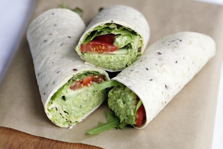 Hummus and Avocado Wrap