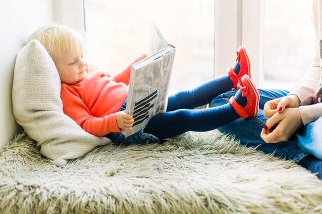 Toddler Reading at Home